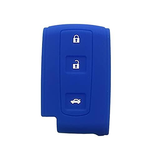 GXYMF Funda de gel de sílice para llave inteligente para Toyota Prius Yaris Corolla Chr Rav4 Auris con inserto 2/2 + 1 botón carcasa de llave azul