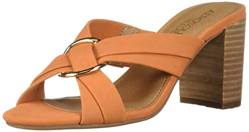Aerosoles Women's HIGHWATER Heeled Sandal, Orange Nubuck, 7 M covid 19 (Orange Leather Footwear coronavirus)