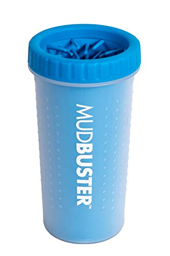 Dexas MudBuster Portable Dog Paw Washer/Paw Cleaner, Large, Pro Blue