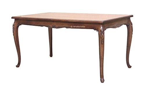 Arteferretto Table de Salle à Manger Classique sculptée 160-250 cm