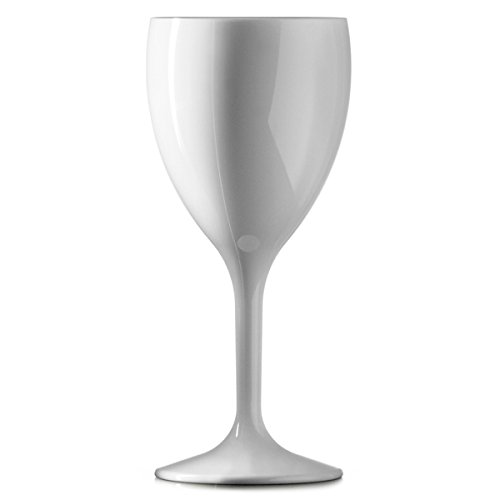 ▾Bb-143-1 WH NS wijnglas, polycarbonaat, 312 ml, 11 oz, wit (12 stuks)