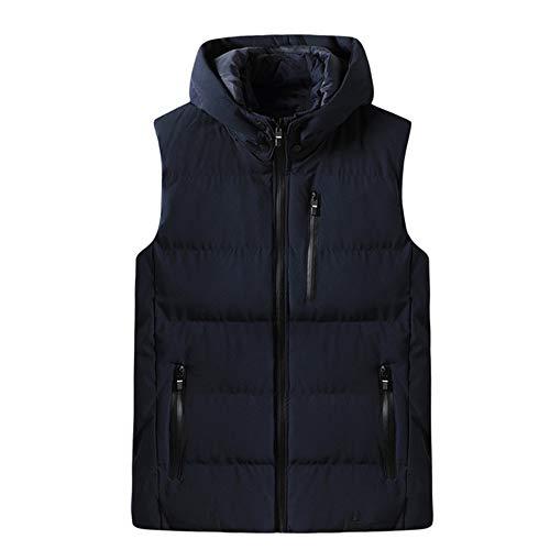 Los hombres con capucha chaleco de algodón de invierno chaleco de los hombres casual cálido de gran tamaño chaquetas de los