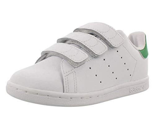 adidas Originals Baby Stan Smith CF I Running Shoe, White/Green, 9 M US Infant