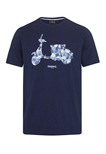 Merc Clothing T-Shirt Imprimé Scooter Camouflage Rushlake Navy M