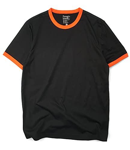 Ringer Shirt (M, Black/Orange)