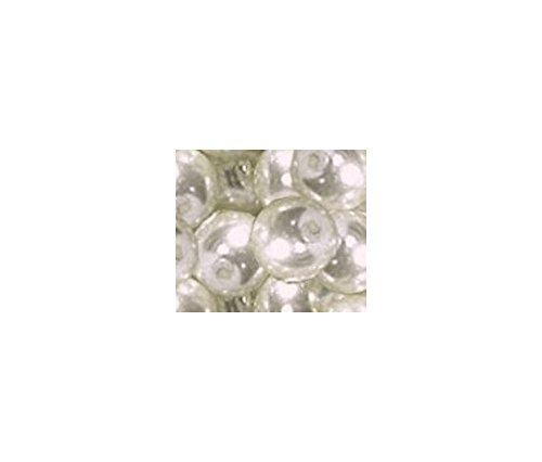 Perlen Renaissanceperlen 44 Stück glänzd undurchs. 8 mm 1030 weiß