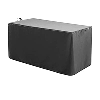 STARTWO Patio Deck Box Cover to Protect Large Deck Boxes All Weather Extra Large Patio Outdoor Pool Storage Deck Box Cover,Heavy Duty Waterproof