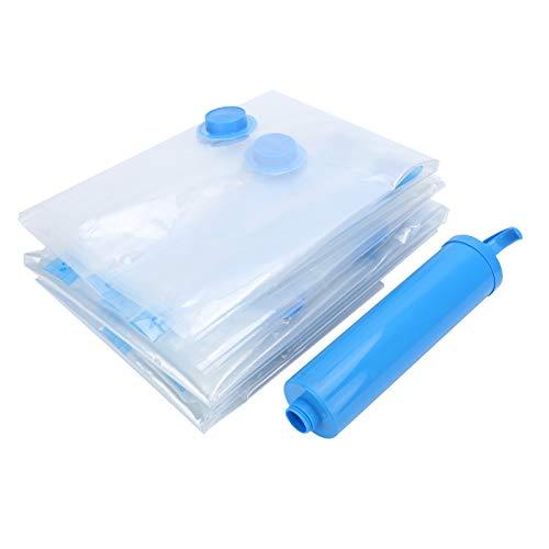 EVTSCAN 10PCS Bolsa de almacenamiento al vacío transparente Organizador de ropa plegable Paquete comprimido con bomba