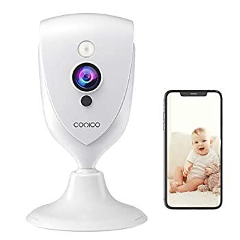 Pet Camera Conico 1080P Baby Monitor with Sound Motion Detection IR Night Vision Home Camera with 2- Way Audio 8X Zoom WiFi Camera Cloud Service Works with Alexa