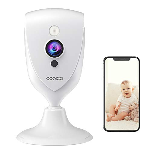 Pet Camera, Conico 1080P Baby Monitor with Sound Motion Detection IR Night Vision, Home Camera with 2- Way Audio 8X Zoom, WiFi Camera Cloud Service Works with Alexa