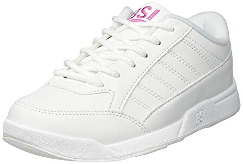 BSI Girl's Basic #432 Bowling Shoes, White, Size 3.0