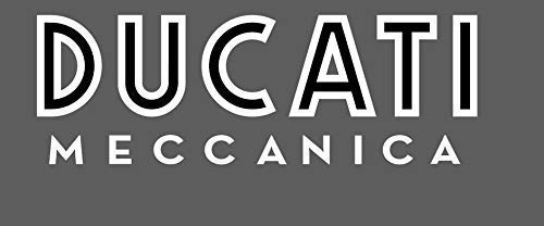 2 ADESIVI DA SERBATOIO DUCATI MECCANICA MONSTER GT 1000 SCRAMBLER SUPER SPORT (bianco)