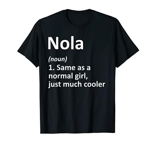 Nola Definición Personalizado Nombre Divertido Regalo de Cumpleaños Idea Camiseta
