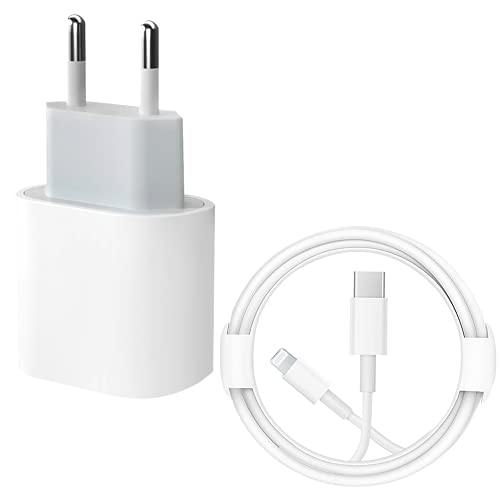 Cargador rápido para iPhone 12 【Certificado MFi】 Cargador de Pared de alimentación PD Tipo C de 20 W con Cable USB C de 4 pies a Lightning Compatible con iPhone13/12/12 Mini /12 Pro /12 Pro MAX /11