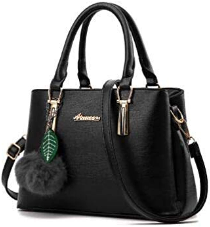 Bloomerang WERLO Brand High Quality Leather Women Bags Women Handbag Totes Fashion Female Shoulder Messenger Bags Bolsa Feminina SJ062 color Black