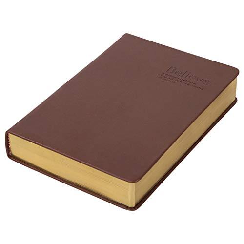 A5 Notebook 600 Pages Sketch Large Journal Addensare Manuale di Bibbia Cancelleria (Colore : Brown, Dimensioni : A5)