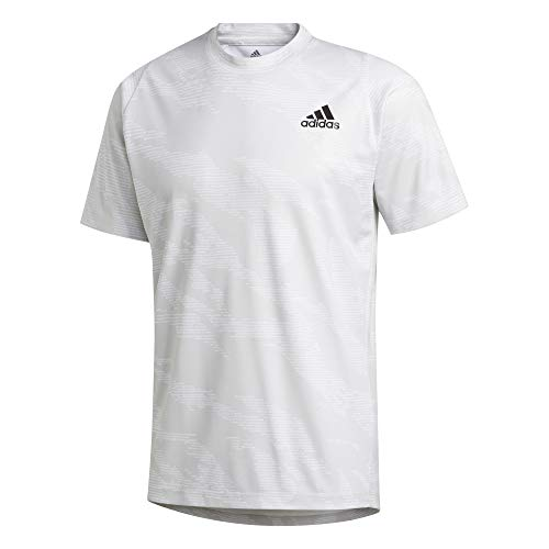 adidas Herren T-Shirts-FM2117 T-shirt, Hellgrau(White), L