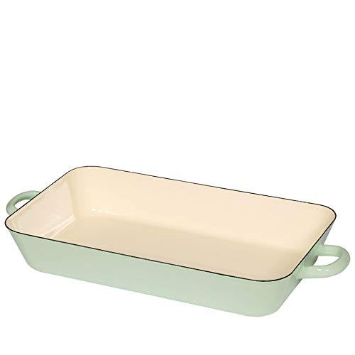 Riess Bratpfanne 37/22cm Nilgrün/Bunt Pastell