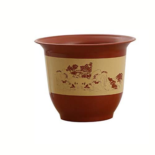 caihuashopping Macetas Decorativas Gruesa de plástico imitación de cerámica Resina aplicada Tiesto Paisaje Agua Pot casa Balcón Bonsai Rose del árbol frutal de Tiesto Plantador (Size : 11L)