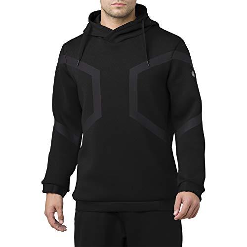 ASICS Herren Hexagon Po Hoodie Sweatshirt, Schwarz (Black 153343-0904), X-Large (Herstellergröße: XL)