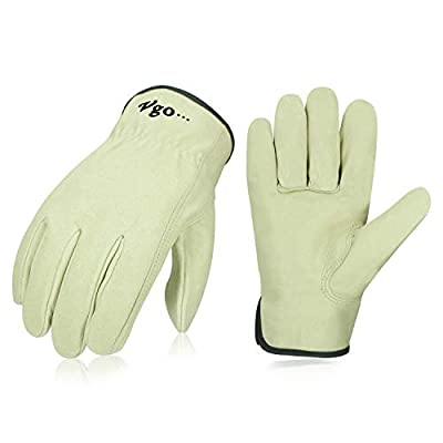 Vgo Unlined Top Grain Leather Work and Driver Gloves