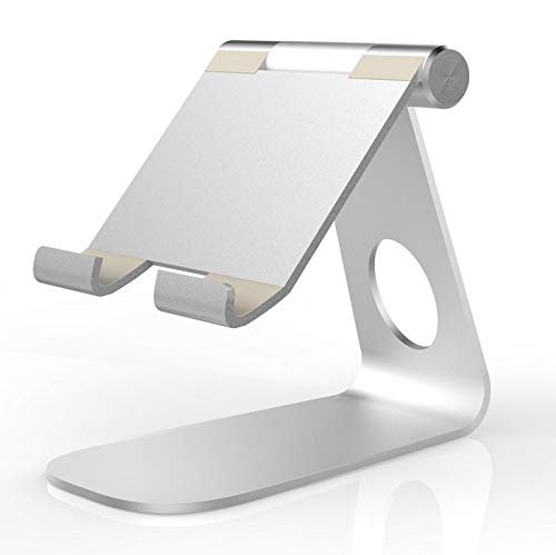 elegantstunning Soporte giratorio de aleación de aluminio plegable de 270° para tablet Sam-sung Galaxy Tab Pro S i-Pad Pro10.5 9.7' 12.9' i-Pad Air Surface Pro 4 KI-O-Sk POS Stand plateado