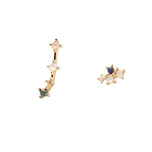 PDPAOLA - Pendientes Aries - Plata de Ley 925 Bañada en Oro de 18k - Joyas para Mujer