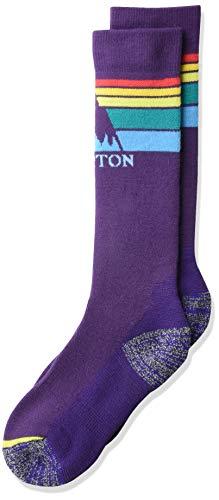Burton Kids Emblem Midweight Sock, Parachute Purple, Small/Medium