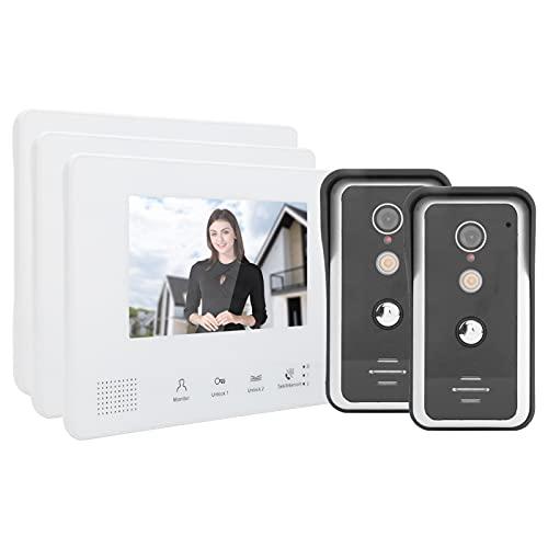 BOLORAMO Videoportero con Cable, videoportero derivado del intercomunicador Manos Libres bidireccional y Modo Mixto para Seguridad en el hogar para Villas