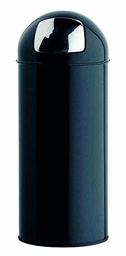 Rossignol Push Poubelle Noir Graphite 45L, Métal, 31x31x77,5 cm