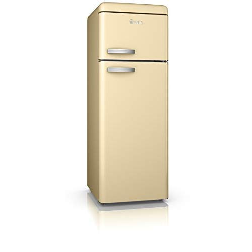 Swan Retro Freestanding Top Mounted Fridge Freezer 70/30, A+ Energy Rated, 208 Litres, Cream, SR11010CN