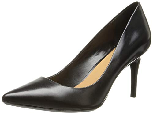 Calvin Klein Women's Gayle Pump, Black Leather - 7.5 B(M) US