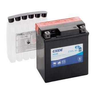 Batteria moto EXIDE ETX7L-BS 6AH YTX7L-BS 100N dimensioni 115X70X130