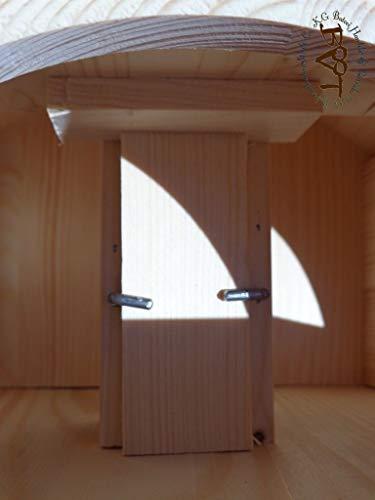 Vogelhaus, groß, BEL-X-VONI5-LOTUS-LEFA-dbraun002 Großes wetterfestes PREMIUM Vogelhaus mit wasserabweisender LOTUS-BESCHICHTUNG VOGELFUTTERHAUS + Nistkasten 100% KOMBI MIT NISTHILFE für Vögel WETTERFEST, QUALITÄTS-SCHREINERARBEIT-aus 100% Vollholz, Holz Futterhaus für Vögel, MIT FUTTERSCHACHT Futtervorrat, Vogelfutter-Station Farbe braun dunkelbraun behandelt / lasiert schokobraun rustikal klassisch, MIT TIEFEM WETTERSCHUTZ-DACH für trockenes Futter - 6
