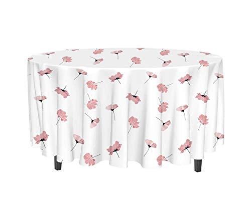 Mantel Antimanchas Redondo PETALE Rosa de Soleil d'Ocre