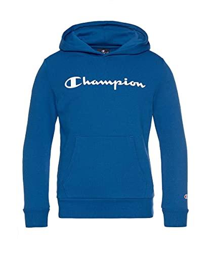 Champion Legacy Classic Logo Sudadera con Capucha, Azul Claro, 12 años para Niñas