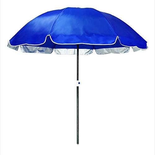 Hmg Outdoor Large Doble Layer Sun Umbrella Shade and Sun Protection Puestos en la Naturaleza, Estilo: 2.4m Azul Zafiro