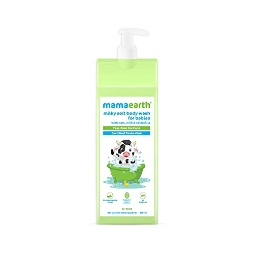 Milky Soft Body Wash for Babies with Oats, Milk and Calendula – 400 ml