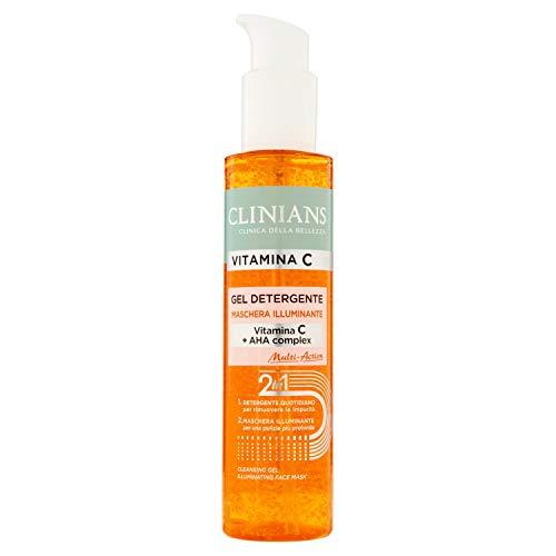 CLINIANS ANTIPOLLUTION gel limpiador iluminador para todos los tipos de piel, con Vitamina C, 150 mL