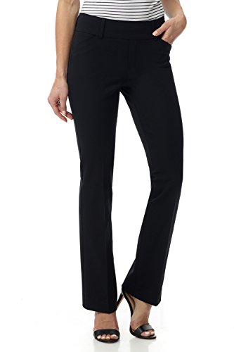 Rekucci Women's Smart Chic Bootcut Pant in Ultimate 4-Way Stretch Cotton (16,Black) (Keela Scuffer Trousers Best Price)