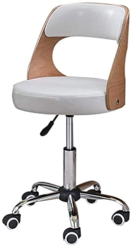 Sgabello bar Poltrona Atmosfera semplice Ruota la sedia da calcolatrice, Sciambia in legno massello Sollevamento Sedia per studenti Sedia da apprendimento del computer Sgabello Sgabello Desk Sedia Tè