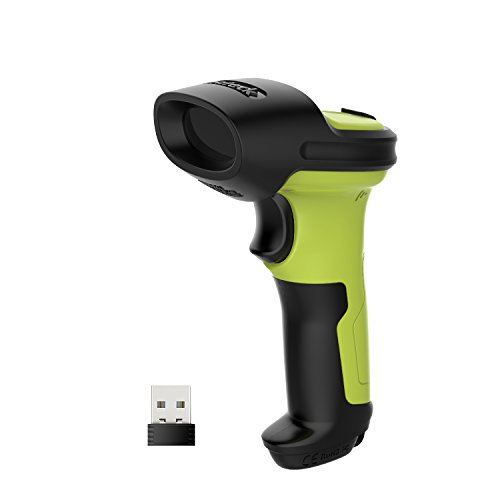 Barcode Scanner, Inateck Wireless Scanner, 2600mAh Battery, 35M Range, Automatic Scanning, BCST-60 Green barcode handheld scanner