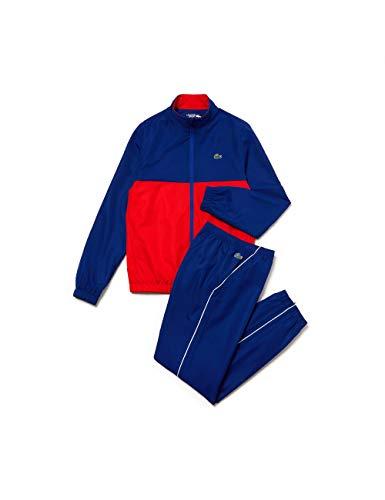 Lacoste Herren Wh4896 Sportswear-Set, Blau (Cosmique/Corrida-Blanc Xy0), Small (Herstellergröße: 3)