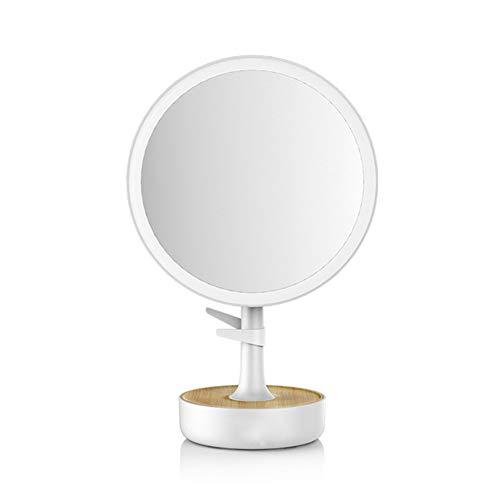 88552 miroir mural Miroir de Voyage avec Lumi/ères LED Rotation /à 360/° et Fonctionnant sur batterie Medisana CM 845 Miroir de Maquillage 5X Zoom miroir /à main miroir fixe 13 cm /Ø