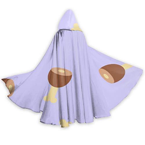 ALALAL Creativo Desayuno Carne Comida jamón Mujeres con Capucha Capas Capa Disfraz Adulto 59 Pulgadas para Navidad Halloween Cosplay Disfraces