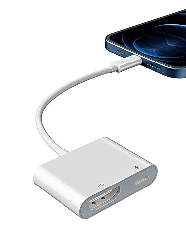 Adaptador HDMI para iPhone a TV, YEHUA Adaptador AV 1080P Digital para iPad,Conexión HDMI para iPhone a TV/Monitor/Proyector...