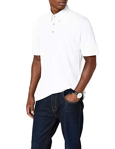 James & Nicholson Herren Poloshirt Poloshirt Men's Plain weiß (white/navy-white) XX-Large