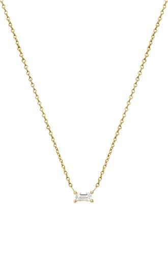 Diamond Baguette Necklace 0.12ct. Prong Setting