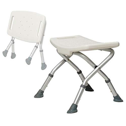 Douchestoel, inklapbaar Antislip in hoogte verstelbare badkruk met U-vormige zitplaat - voor ouderen Senior gehandicapte