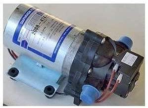 Shurflo 2088-474-144 Auto Demand Diaphragm Sprayer Pump, 3.0 GPM, Back-Flow Preventive Valve and Self-Priming, Chemically Resistant Materials, 45-PSI, 12VDC, 1/2